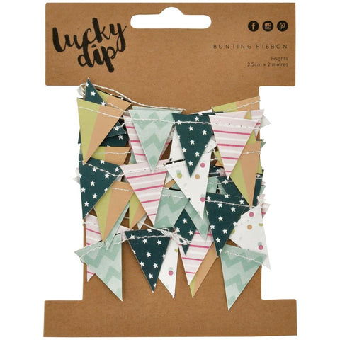 Confetti Lucky Dip Mini Paper Bunting 25mmX2m