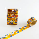 Geometric Round Top Masking Tape • Hirari Material Michemon Tokiiro Series