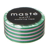 SALE Green Border Japanese Washi Tape • Basic Masté Masking Tape