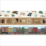 City 1 Washi Tape Set (3/pkg) Masté Masking Tape City Series