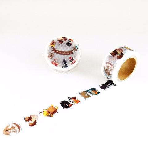 Cats Costume Party Dreamful Cat • Path Round Top Masking Tape