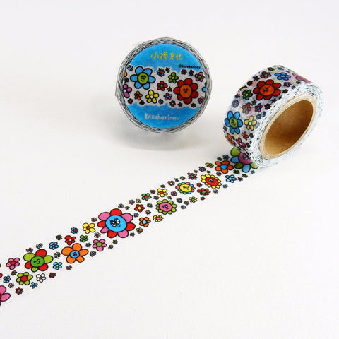 Flower Round Top Masking Tape • Path KAZUHARINNU