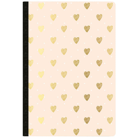 Color Crush Composition Planner Notebook Inserts Gold Heart Day Tracker 80 pages