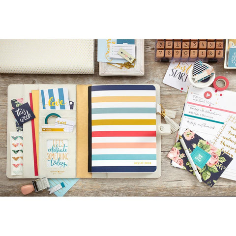 Color Crush Composition Planner Notebook Inserts Striped, Dated 2018
