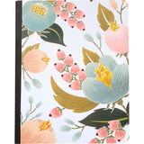 Color Crush Composition Planner Notebook Inserts Floral Blank Pages