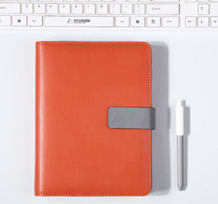 Orange A5 BINDER ONLY with Built-in Calculator • Free Washi Tape with this order