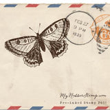 Butterfly Pre-inked Stamp