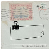 Binder Clip and Note Pre-inked Stamp. Original design, proudly made in Houston.