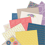 Folk Floral Papermania Double-Sided Paper Pack A4 40/Pkg