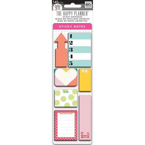 Bright Create 365 Sticky Notes 140/pkg The Happy Planner