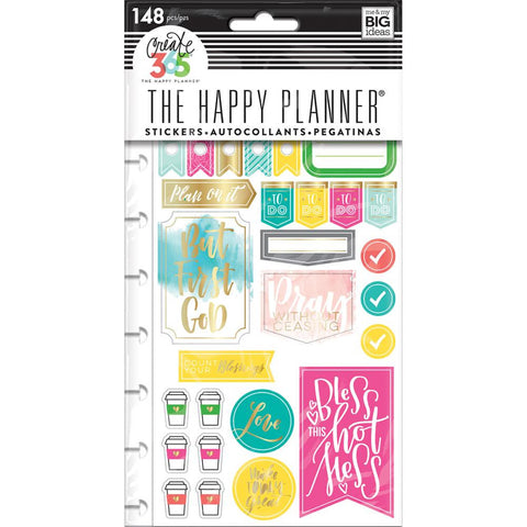 Faith Gratitude Create 365 Planner Stickers The Happy Planner