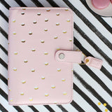 Personal Planner Kit (SALE) Blush & Gold Dots Webster's Pages 2017 Calendar • FREE WASHI TAPE
