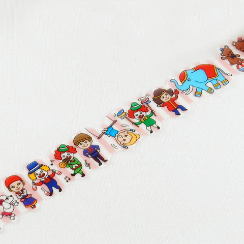 Circus Round Top Masking Tape • Tips Die-Cut Tape Character Series