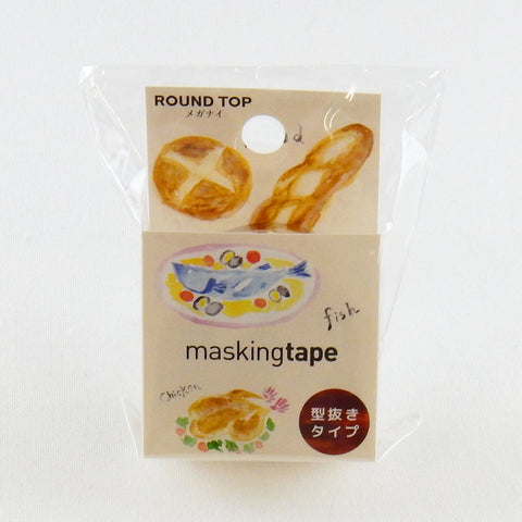 Food Round Top Masking Tape • Atelier Apartment Die-cut