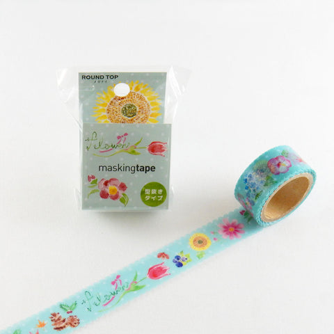 Flower Round Top Masking Tape • Atelier Apartment Die Cut Washi Tape