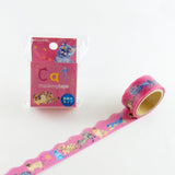 Cat Round Top Masking Tape • Atelier Apartment Die Cut Washi Tape
