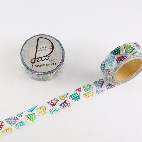 Diamond Washi Tape • Round Top Masking Tape Space Craft