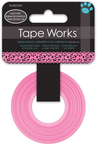 Floral Pink Lace Tape