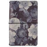 Black Vintage Floral Traveler's Notebook Journal Carpe Diem • FREE Washi Tape