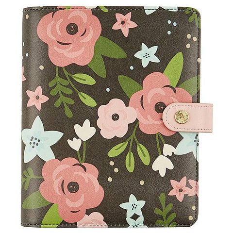 Black Blossom Personal Planner Binder Carpe Diem (IN STOCK) Free Washi Tape