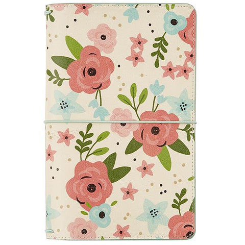 Cream Blossom Traveler's Notebook Journal Carpe Diem • FREE Washi Tape