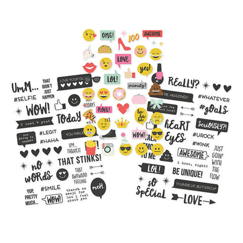 "Emoji Love Clear Stickers 4""X6"" 107/Pkg Simple Stories"