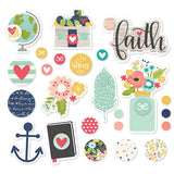 Faith Metal Brads & Tags 24/Pkg Simple Stories