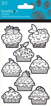 Color Me Cupcakes Sticker (2 sheets)