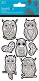 Color Me Owl Glitter Sticker (2 sheets)