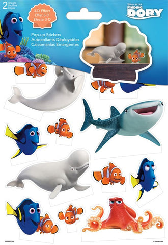 Finding Dory Pop Up Stickers (2 sheets)
