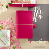 Travelers Planner Fuchsia Color Crush Webster's Pages • FREE WASHI TAPE