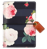 Black Floral Pocket Traveler Planner Color Crush Webster's Pages