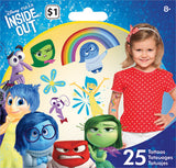 Disney Inside Out Temporary Tattoos • Mini Tattoo Bag 25ct