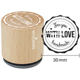For You With Love Handmade Woodies Mounted Rubber Stamp 1.35""