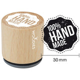 100% Handmade Woodies Mounted Rubber Stamp 1.35""