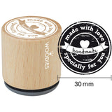 Made With Love Specially For You Woodies Mounted Rubber Stamp 1.35""
