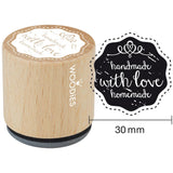 Handmade With Love Homemade Woodies Mounted Rubber Stamp 1.35""