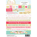 "Growing Up Girl Words Stickers 4""X6"" • Webster's Pages"