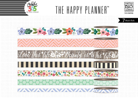 Fresh Florals Washi Tape Set (7 rolls) Me & My Big Ideas® Create 365 Happy Planner