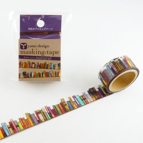 Bookshelf Round Top Masking Tape • Yano Design Debut Series Natural Washi Tape