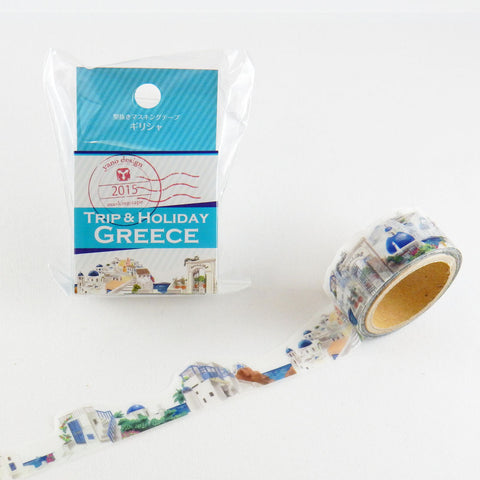 Greece Tape Round Top Masking Tape • Yano Design Trip & Holiday