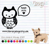 Owl Stamp • Personalized Pre-inked Stamp