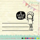 Litle Girl Personalized Pre-inked Stamp