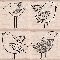Decorative Birds Stamp Set