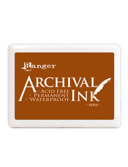 Sepia Brown Archival Ink Jumbo Ink Pad #3