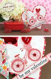 Bicycle with Flower Basket Rubber Stamp