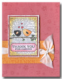 Thank You Card Rubber Stamp