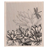 Lotus Flower Rubber Stamp Hero Arts Rubber Stamp