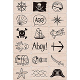 Pirate Stamps Set Ink n Stamp