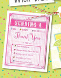 Sending a Thank You Woodblock Craft Stamp